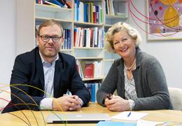 Dirk Wieseke (KERNWERT)  und Anne Kuckartz (VERBI Software)